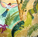 rainforest painting 4